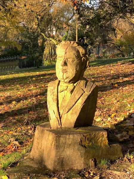 Dylan Thomas bust-Cwmdonkin Park, Swansea