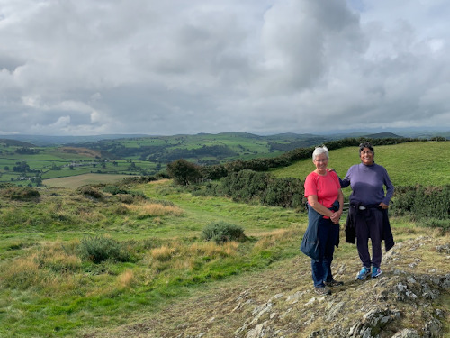 Exploring the hills with our friend Elinor