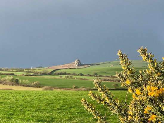 Huge rock outcropping near Wolfscastle, Pembs.