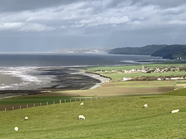 View north towards Aberystwyth