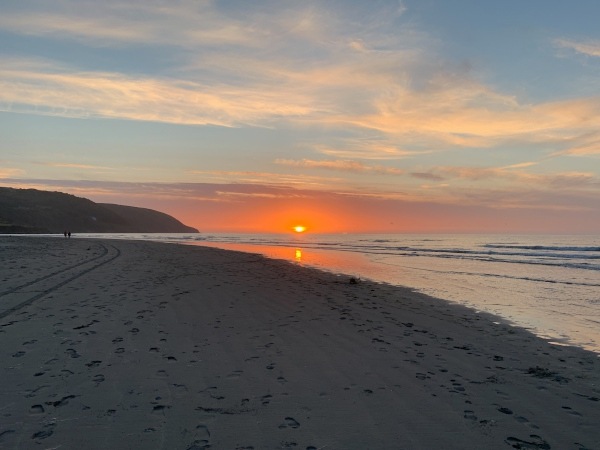 Sunset at Poppit Sands, Cardigan