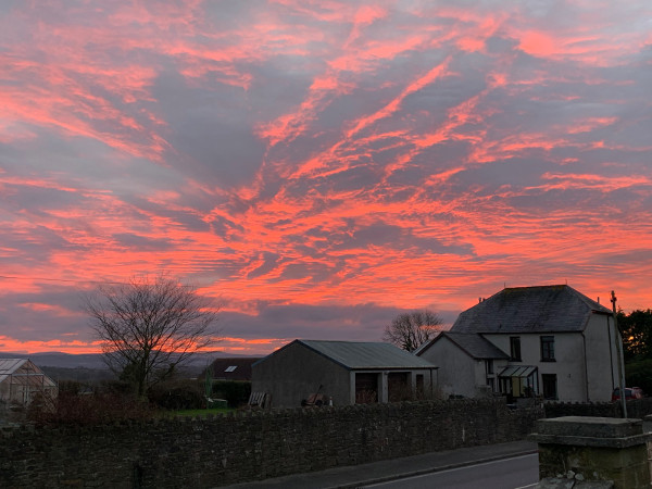 Amazing sunset at Blaenannerch, December, 2019