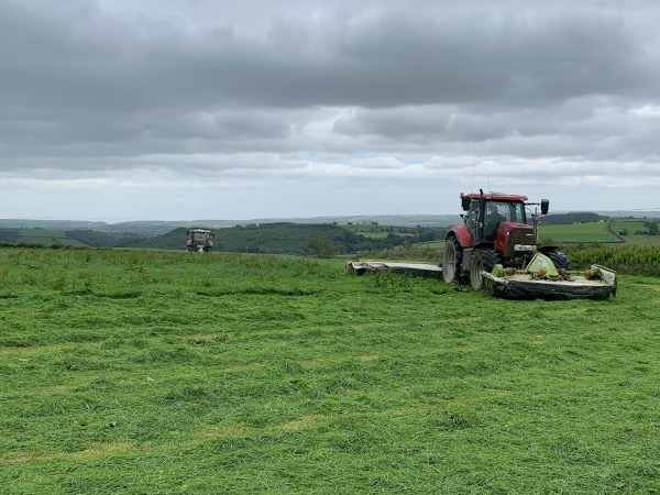 team harvesting in Pembrokeshire